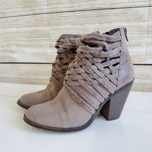 Fergalicious Weaved Ankle Booties 6